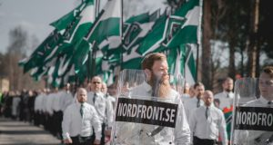 Nordic Resistance Movement May Day march in Falun