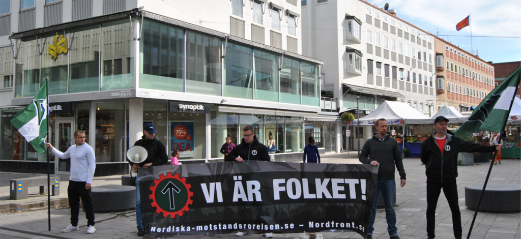 Nordic Resistance Movement activism in Västerås