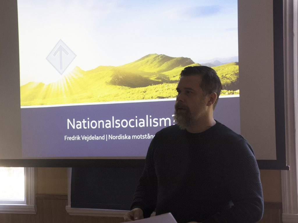 Fredrik Vejdeland speaks at Nest 2 meeting