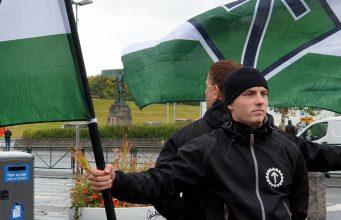 Nordic Resistance Movement activism in Reykjavik, Iceland