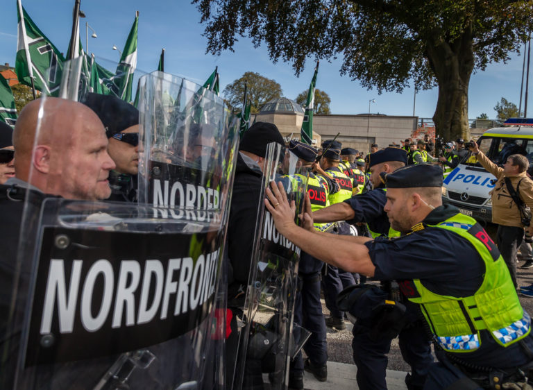 Nordic Resistance Movement Gothenburg demonstration