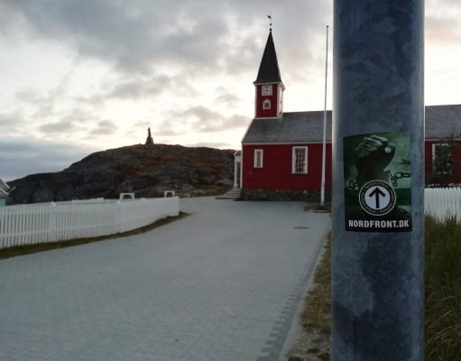 Nordic Resistance Movement stickers in Nuuk, Greenland