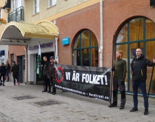Nordic Resistance Movement activists at Strängnäs market
