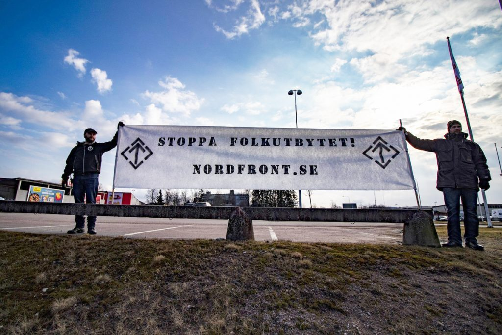 Nordic Resistance Movement banner, Filipstad