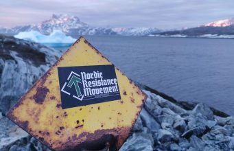 Nordic Resistance Movement sticker in Greenland