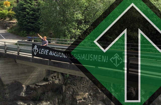 Nordic Resistance Movement banner activity, Bergen