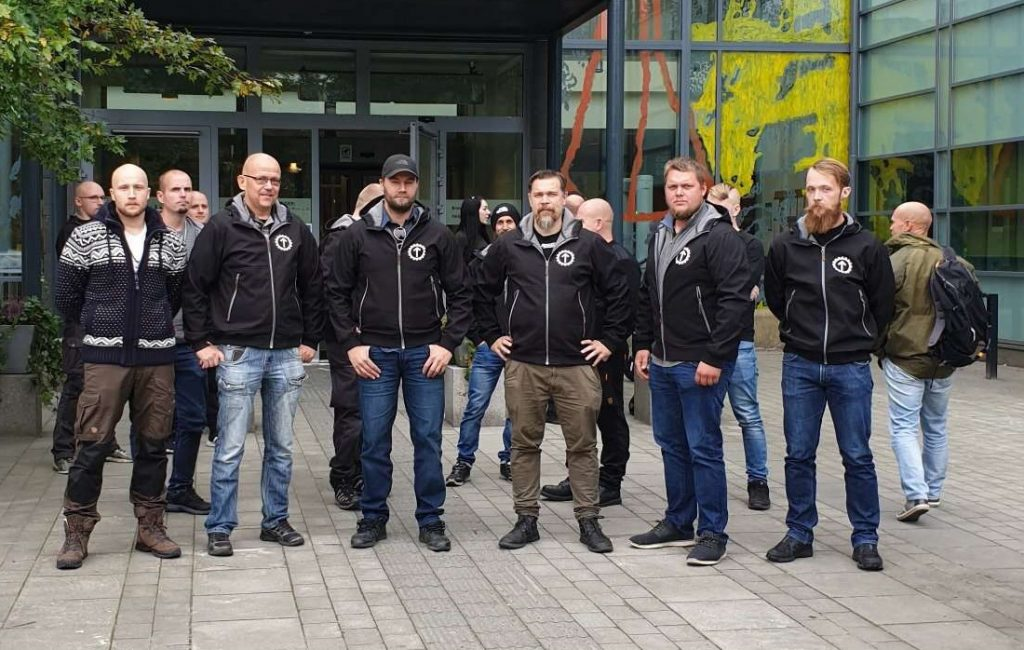 Nordic Resistance Movement defendants at the Gothenburg Trials
