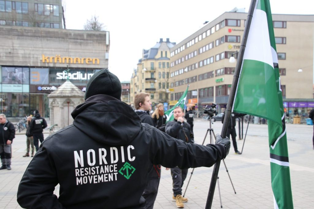 Nordic Resistance Movement White Lives Matter demonstration in Örebro