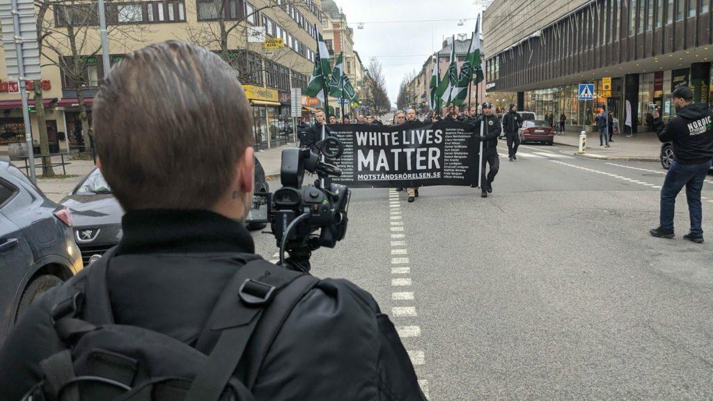 Nordic Resistance Movement White Lives Matter demonstration in Örebro