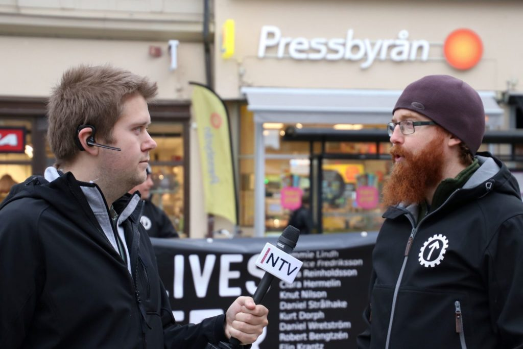 Nordic Resistance Movement White Lives Matter NTV interview in Örebro