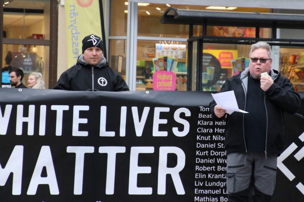 Nordic Resistance Movement White Lives Matter speech in Örebro