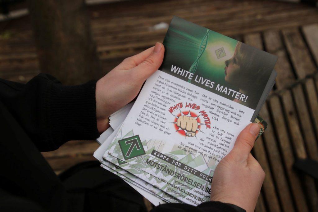 Nordic Resistance Movement White Lives Matter leaflet