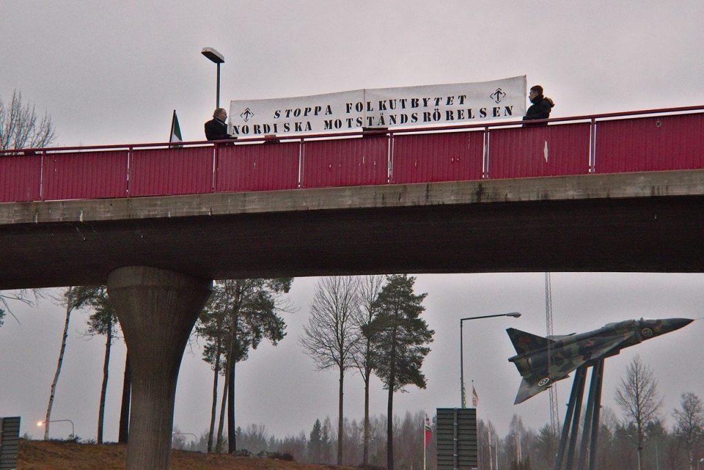 Nordic Resistance Movement banner action