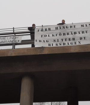 Nordic Resistance Movement banner action, Nest 4, Sweden