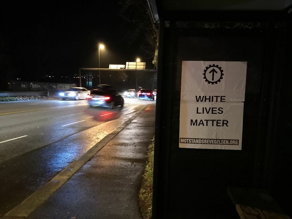 White Lives Matter poster, Norway