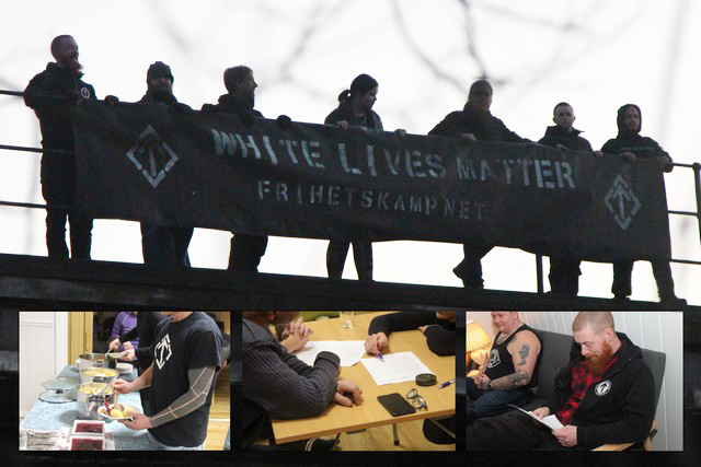 White Lives Matter banner in Eastern Norway