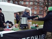 Nordic Resistance Movement soup kitchen in Aarhus, Denmark