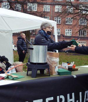 Nordic Resistance Movement soup kitchen in Aarhus, Denmark
