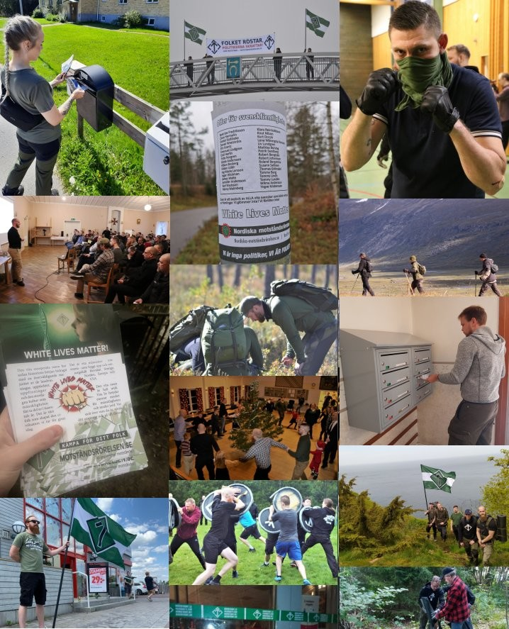 Nordic Resistance Movement activities collage 2020