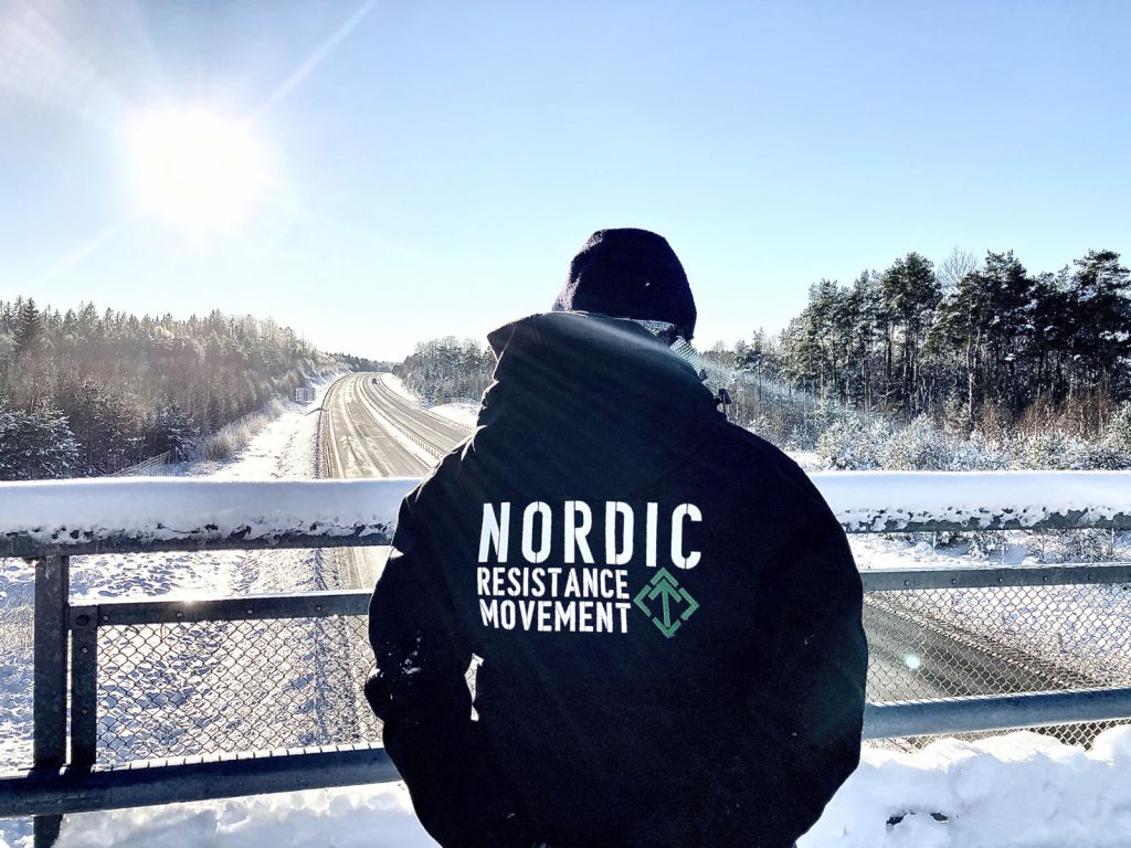 Nordic Resistance Movement bridge action, Skåne