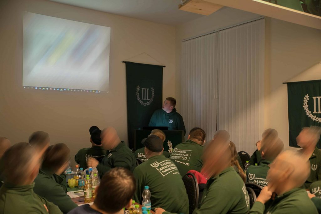 A lecture at the P130 building in Plauen, Germany