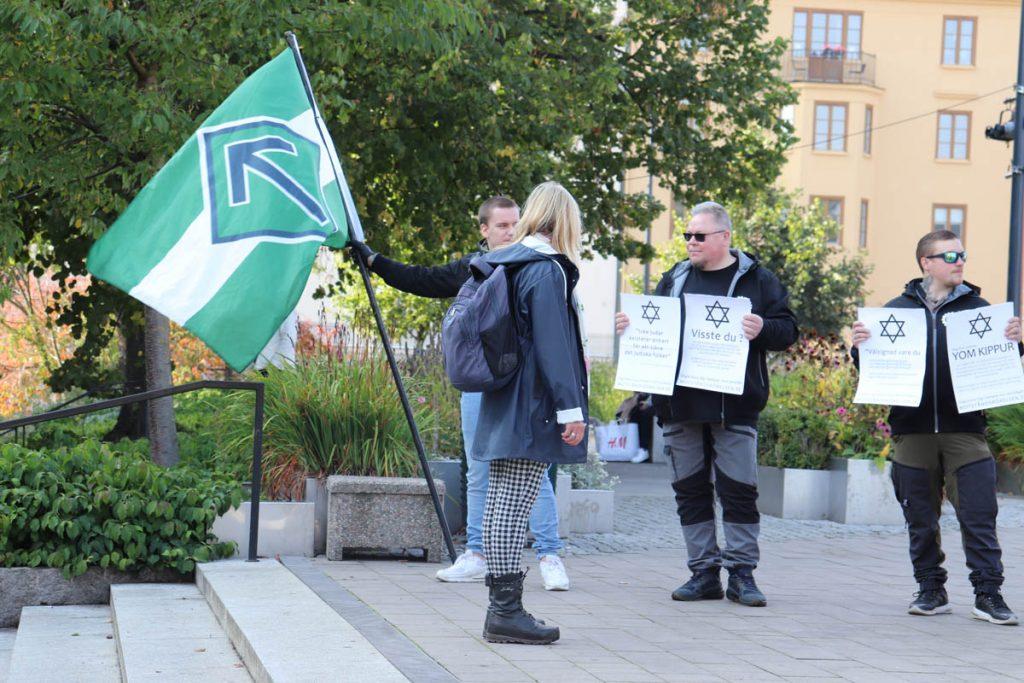 Nordic Resistance Movement Yom Kippur activism