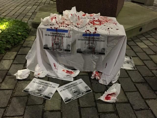 Bloody Jewish altar
