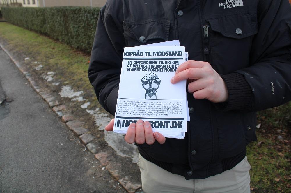Nordic Resistance Movement leafleting in Brøndby