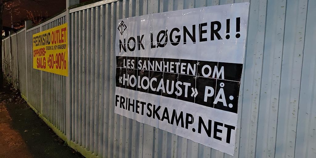 Holocaust lies poster