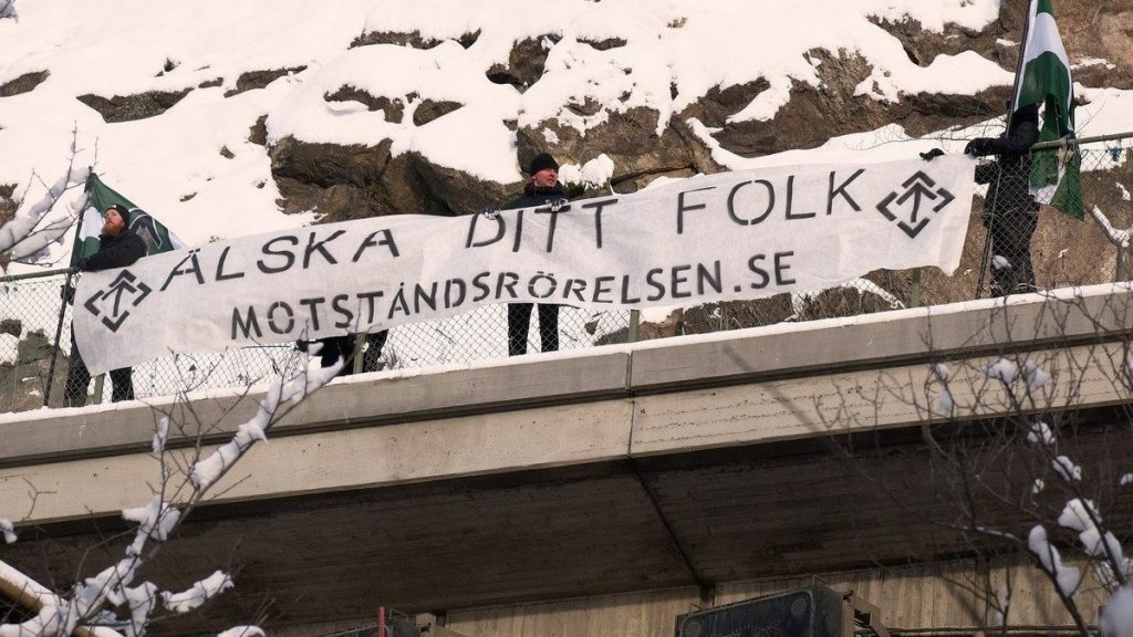 NRM Love Your People banner action in Stockholm