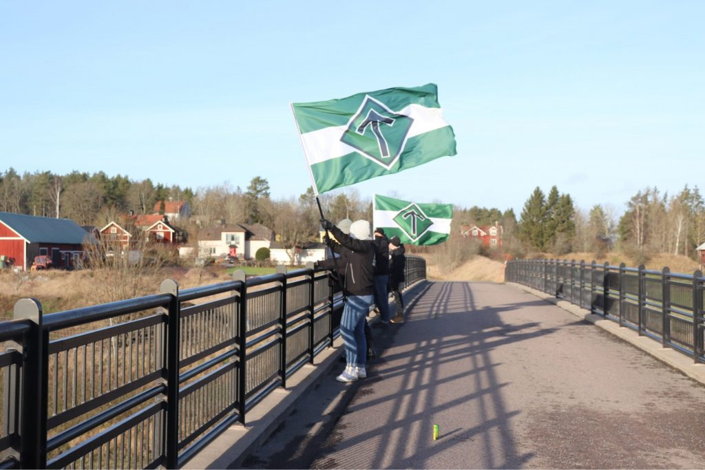 Nordic Resistance Movement banner action in Norrköping