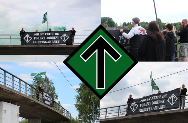 Nordic Resistance Movement banner actions, Norway