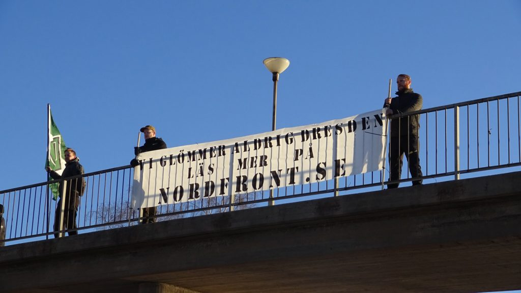 Nordic Resistance Movement Dresden memorial activism in Jönköping