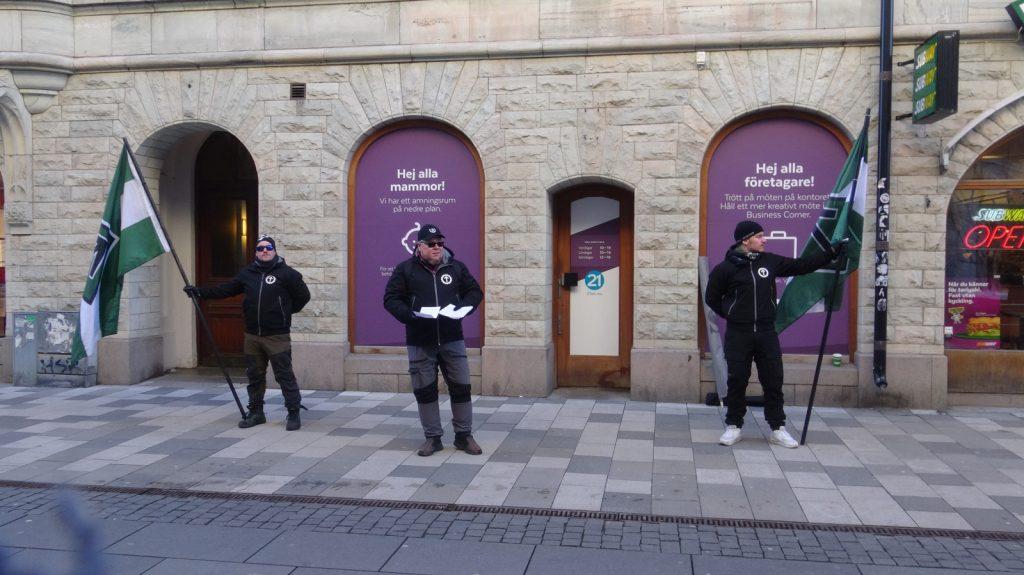 NRM Dresden remembrance leafleting activity