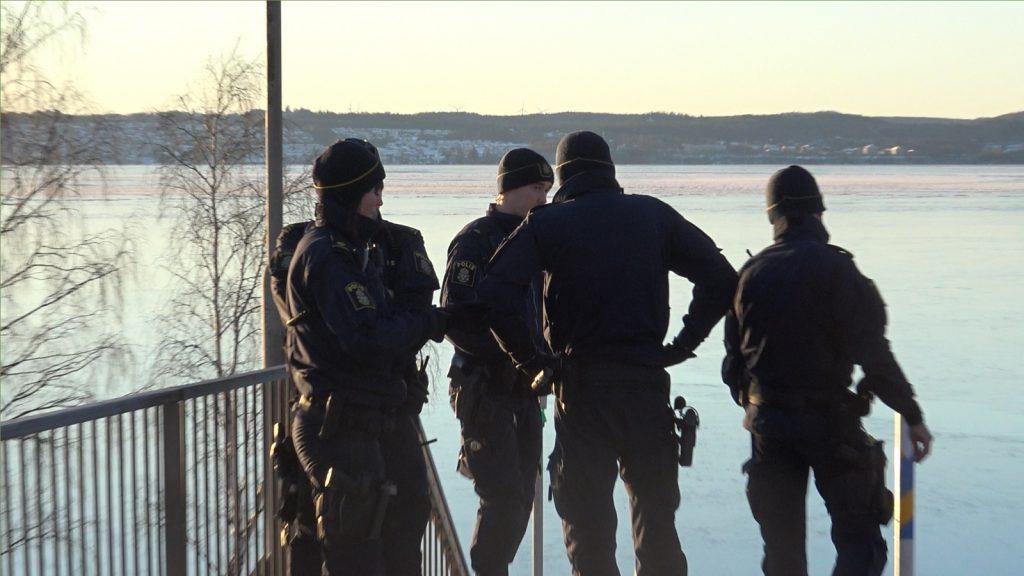 Police at Nordic Resistance Movement Dresden memorial activism