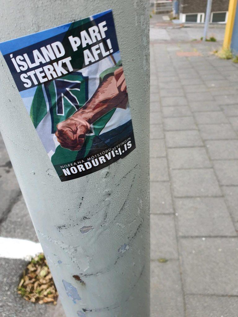 Nordic Resistance Movement poster in Reykjavik