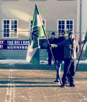 Danish Nordic Resistance Movement activity in Randers