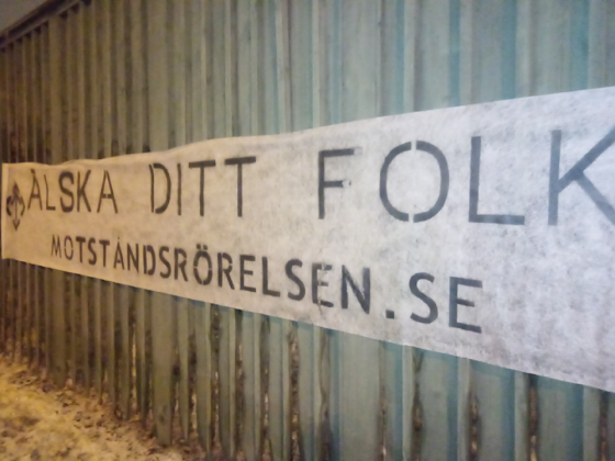 Love Your People banner, Södertälje