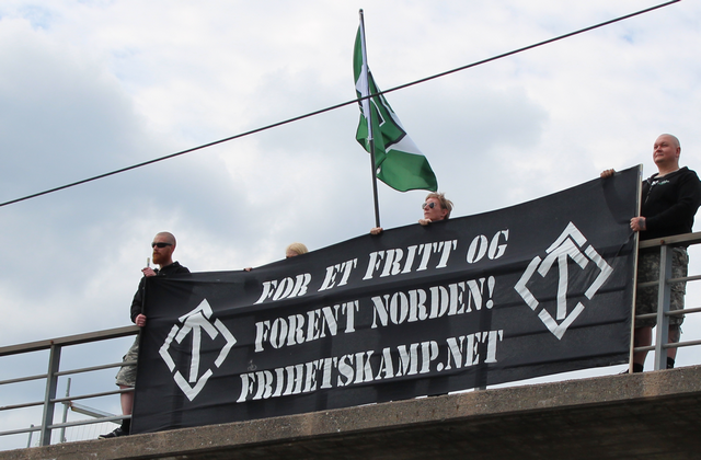 Nordic Resistance Movement banner action in Norway