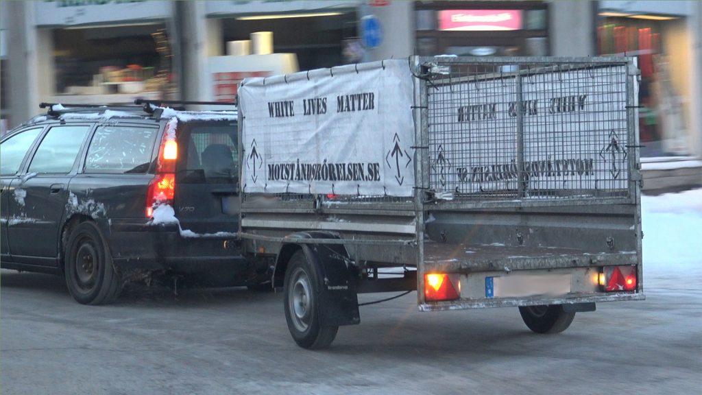 NRM White Lives Matter car banner action
