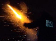 NRM flares fired over Aarhus, Denmark