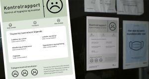 """""""Below Nordic standards"""" signs on takeaways in Randers, Denmark"""