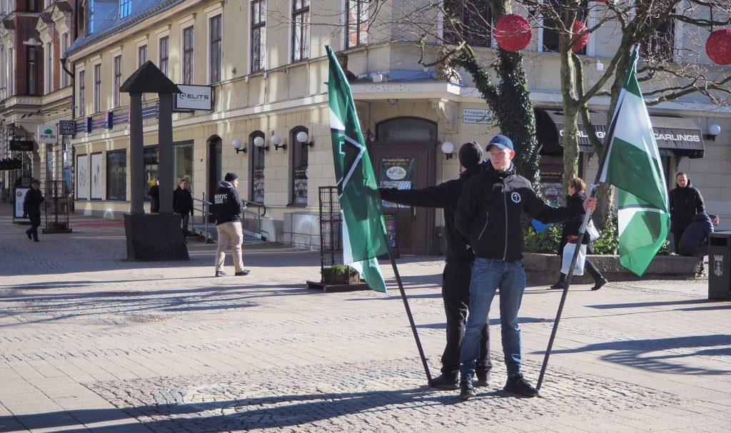 Nordic Resistance Movement public activity in Karlskrona, Sweden