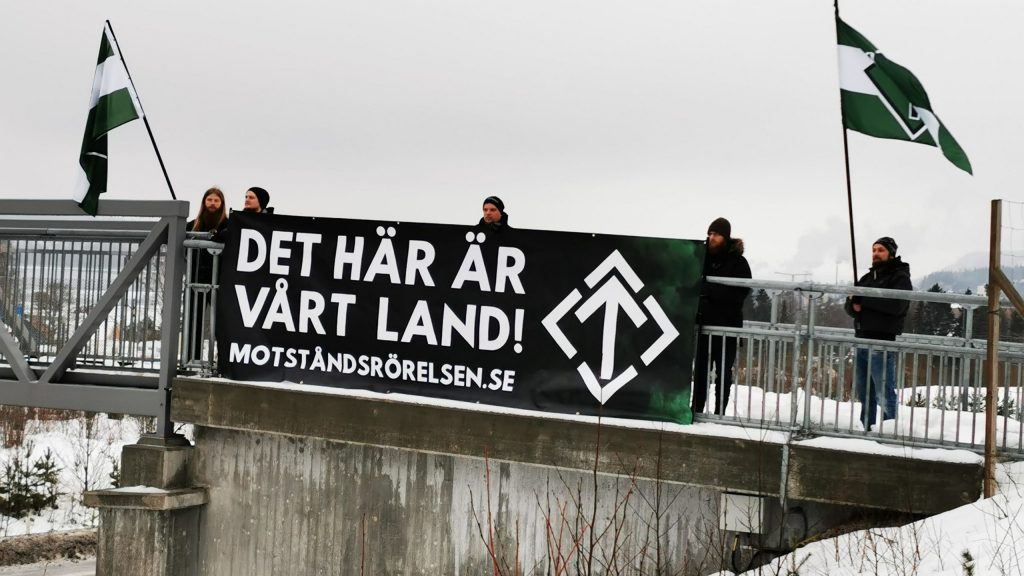 Nordic Resistance Movement banner activism, Sweden