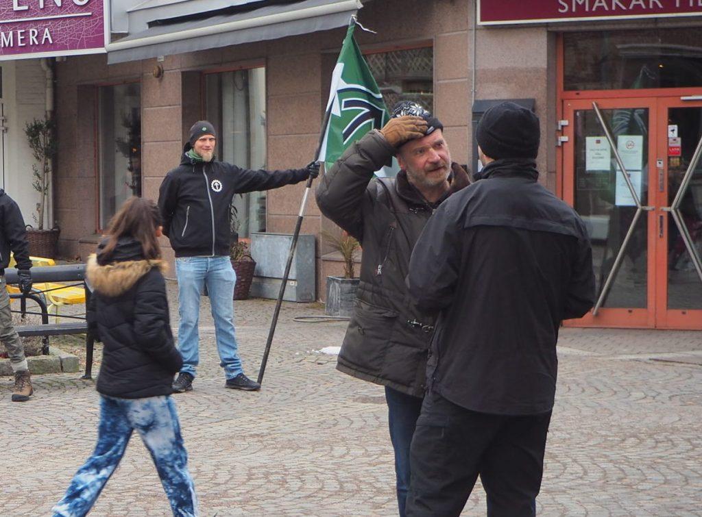 Nordic Resistance Movement public activity in Ängelholm