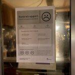 """""""Below Nordic standards"""" signs on takeaways in Nyborg, Denmark"""
