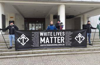 Nyköping Nordic Resistance Movement White Lives Matter Demonstration