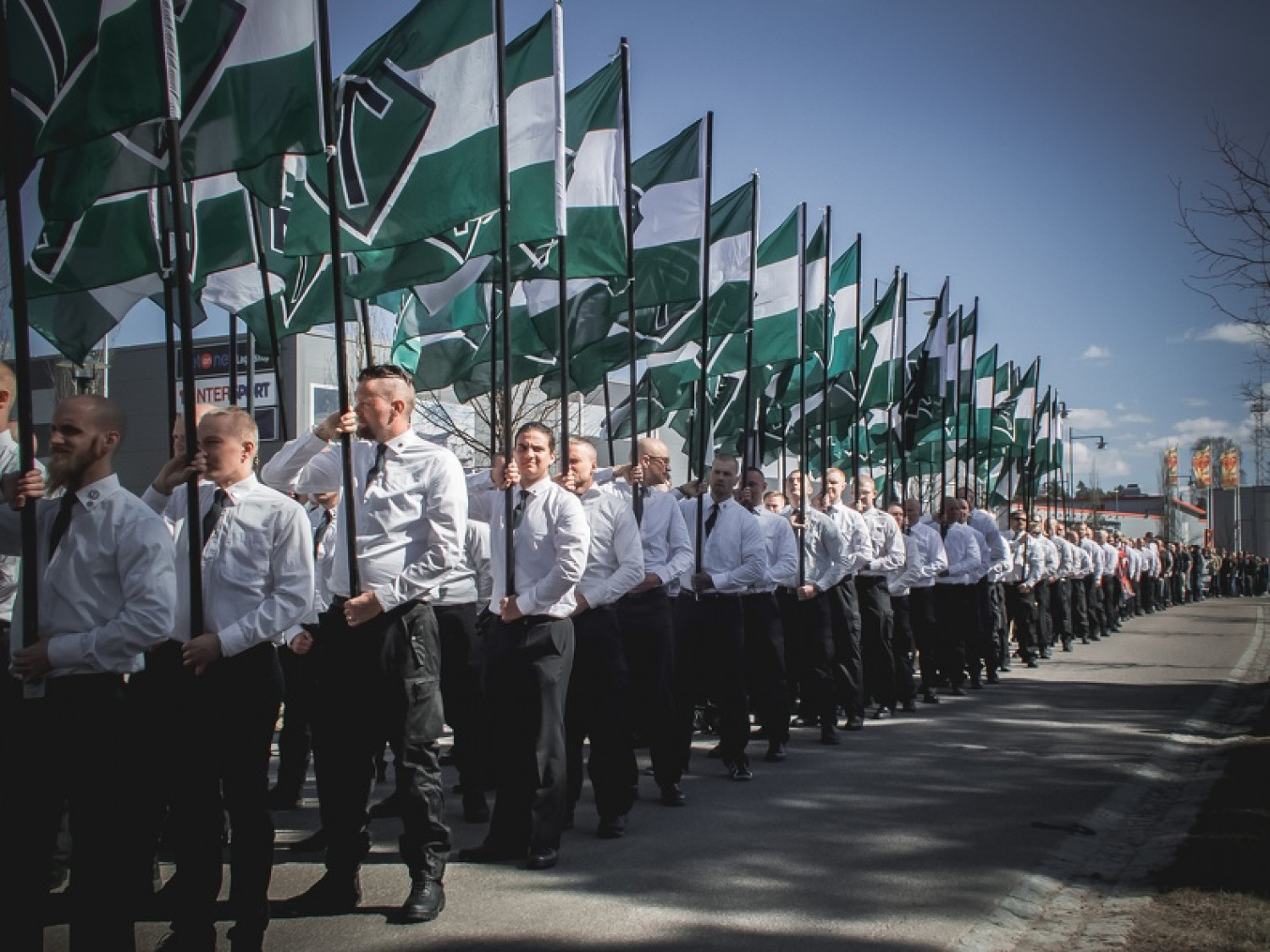 Nordic Resistance Movement march in Falun, Sweden