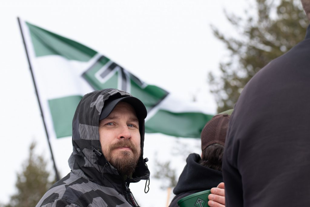 Nordic Resistance Movement banner action in Luleå