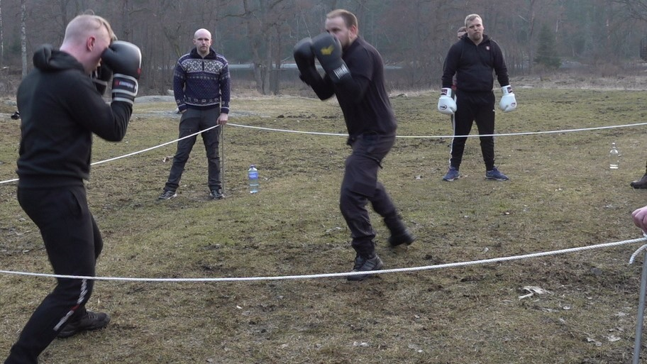 Outdoor boxing training in NRM Sweden's Nest 1